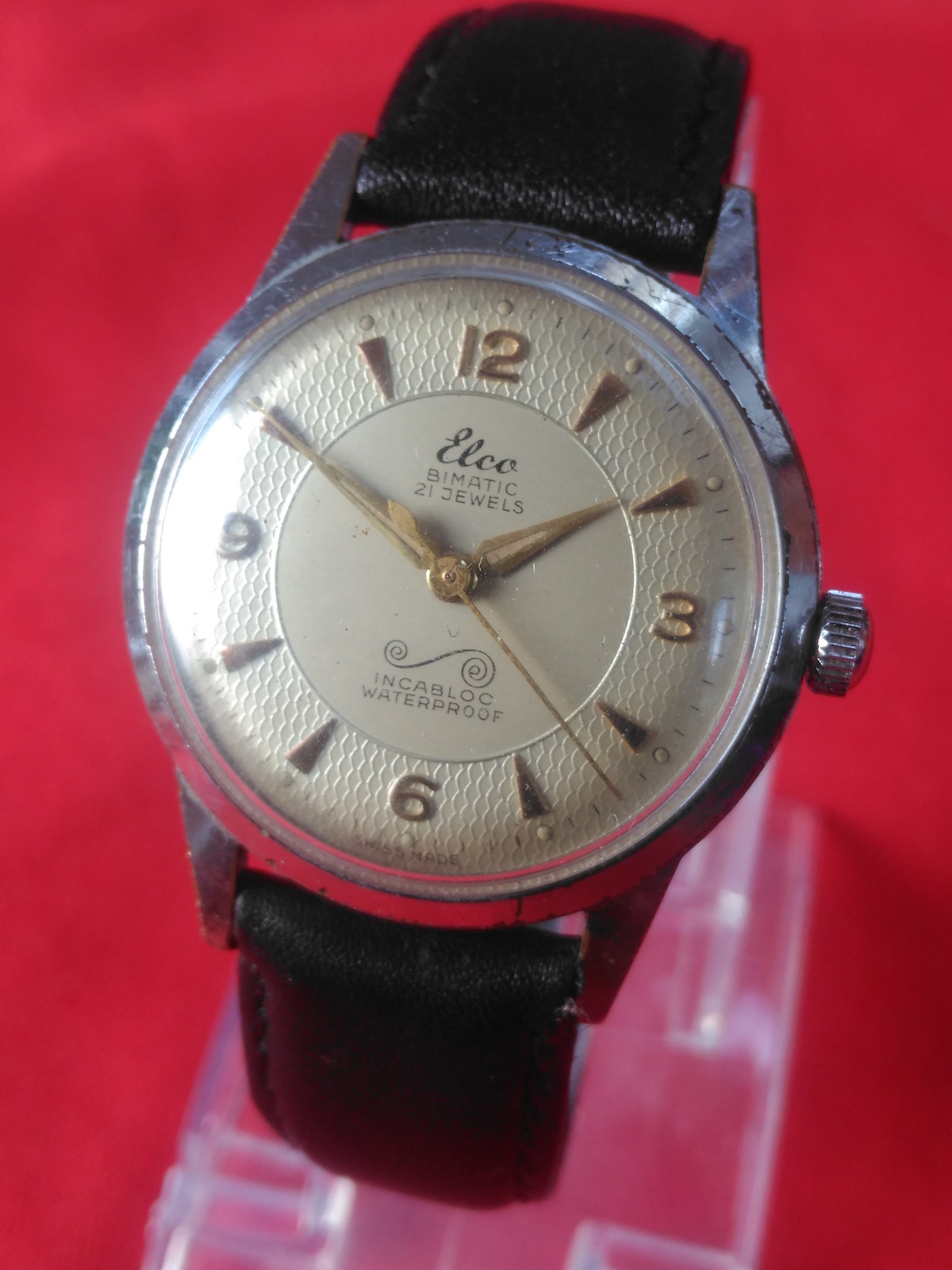 Vintage Elco Swiss made manual wind mechanical wrist watch